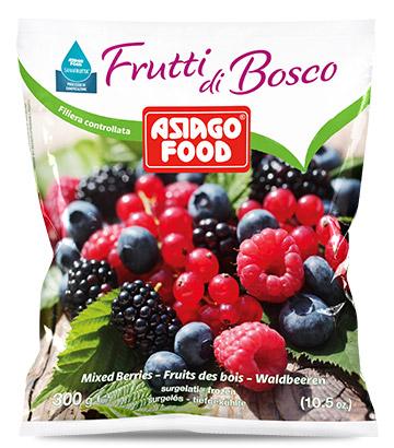 Frutti di bosco surgelati Asiago Food Sanafrutta.