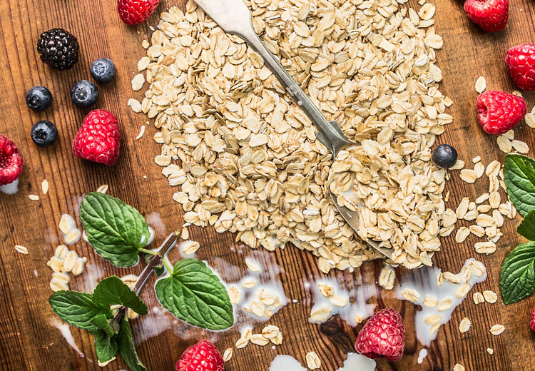 Porridge con frutti di bosco