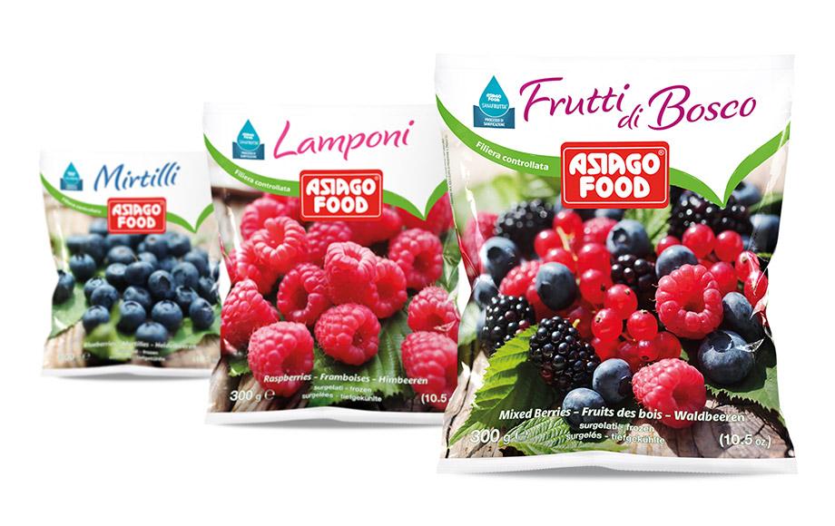 Frutti di bosco surgelati sicuri Sanafrutta Asiago Food.