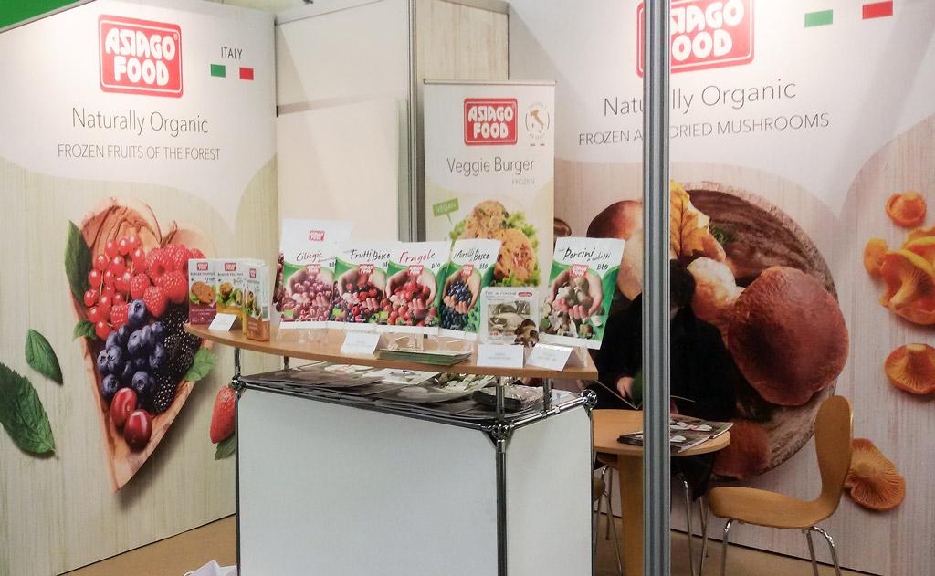 Lo stand Asiago Food al Biofach 2017 fiera BIO.