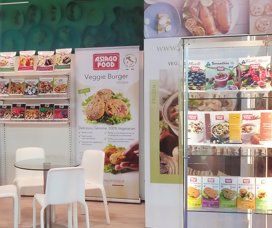 Lo stand Asiago Food a IFE 2017.