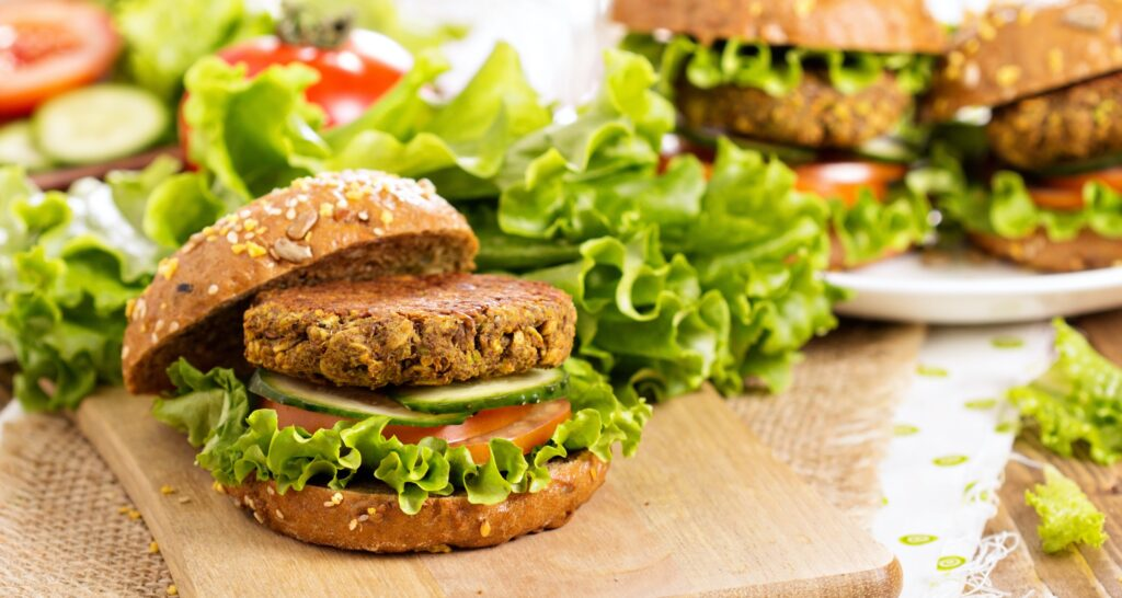 Burger vegetale farcito